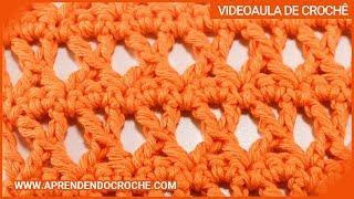 getlinkyoutube.com-Ponto X no croche - Tipos de Pontos no Crochê