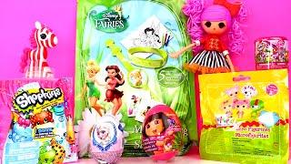 getlinkyoutube.com-My Little Pony Fashems Shopkins Lalaloopsy Disney Fairies Blind Bags Frozen Dora Surprise Eggs