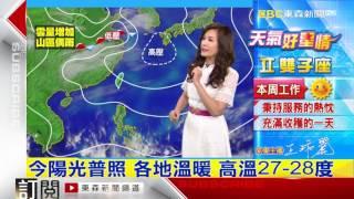 氣象時間 1060328 晚間氣象 東森新聞HD