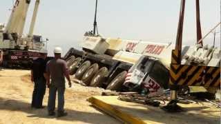 getlinkyoutube.com-Crane accident Liebherr Ltm-1200. Avi cranes. Кран