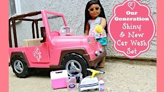 getlinkyoutube.com-Car Wash Doll Set | American Girl Doll Review