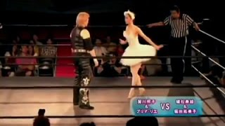 getlinkyoutube.com-Wrestling fights with ballerina