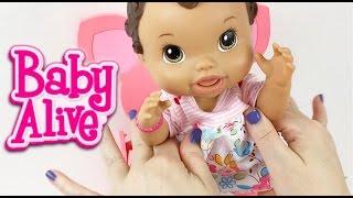 getlinkyoutube.com-Baby Alive Doll Feeding Strawberry Yogurt and Milk