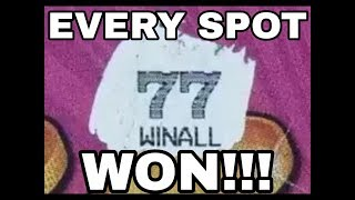HUGE WIN! WIN ALL ON A $50 ULTIMATE 7'S TICKET! TEXAS LOTTERY SCRATCH OFF TICKETS