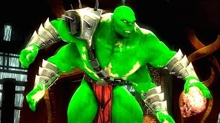 Mortal Kombat Komplete Edition - The Hulk Costume Skin Mod arcade Ladder Gameplay Playthrough