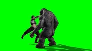 getlinkyoutube.com-fight with a Troll  - free green screen