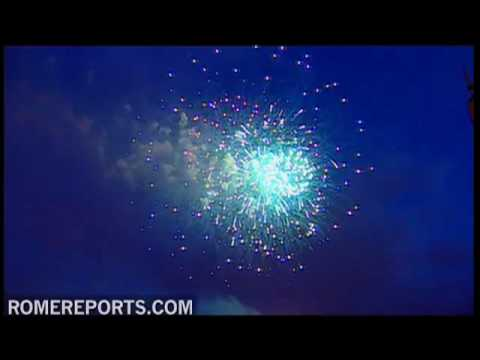 Fireworks show at the Vatican