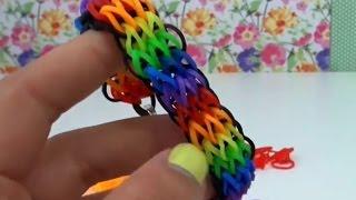 getlinkyoutube.com-Cara membuat gelang tangan dengan garpu TRIPLE SINGLE Rainbow Loom Bands DIY