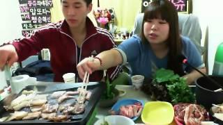 getlinkyoutube.com-왕쥬 밴쯔 고기흡수 먹방 1편 mukbang(Eating Show)