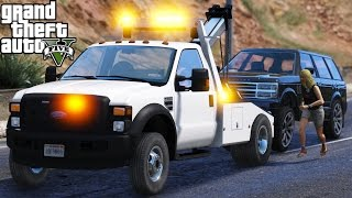getlinkyoutube.com-GTA 5 The Hard Life Part 6 | Going To Work As A Tow Truck Driver | Repo Mod With A Ford F-550 Truck