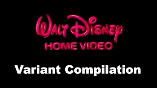 getlinkyoutube.com-1986 Walt Disney Home Video Logo - Variant Compilation (UPDATED 3/31/16)