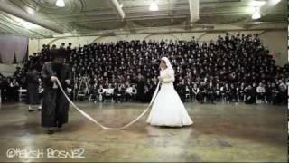 getlinkyoutube.com-Bobov Rebbe Shlita dancing Mitzva Tantz at Wedding