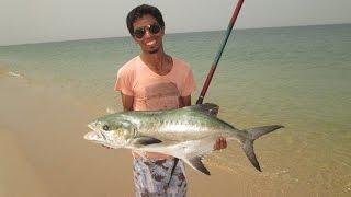 getlinkyoutube.com-(HD) صيد سمك اولاح بالقصبة في الداخلة