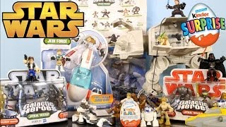 Star Wars Clone Wars Galatic Heroes Toy Character Collection + Kinder Surprise Disney Cars Toy Club