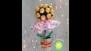 getlinkyoutube.com-Topiario con bombones de chocolate / Chocolate's topiary tree