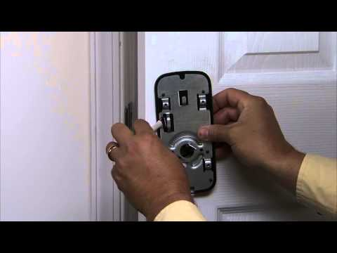 Yale Real Living Lever lock Installation - Installing the Interior Mounting Plate 03