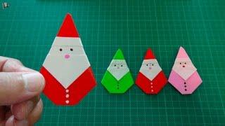 getlinkyoutube.com-origami【Christmas/Santa Claus】