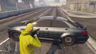 getlinkyoutube.com-GTA Online Schafter V12 Vs Sticky Bomb & Sniper