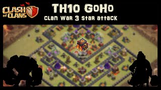 getlinkyoutube.com-Clash of Clans | TH10 GoHo Clan War 3 star