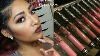 getlinkyoutube.com-Kat Von D Everlasting Liquid Lipstick Swatches + Review