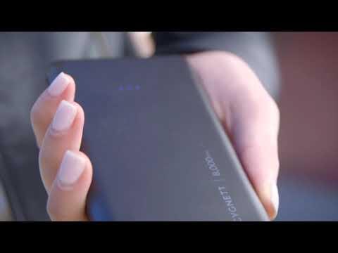 Cygnett Charge Up 8,000 mAh 2.1A USB-C Pocket Power Bank - Black