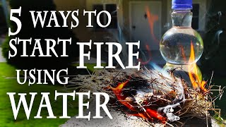 getlinkyoutube.com-5 Ways to Start a Fire, Using Water