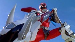 getlinkyoutube.com-Power Rangers S.P.D. - Red Ranger Battlizer Morph and Fight (Reflections Episode)