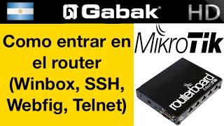 getlinkyoutube.com-Como entrar al mikrotik por Winbox, Webfig, Telnet, SSH