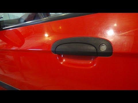 Как снять наружную ручку передней и задней двери. Hyundai Getz.