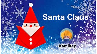 getlinkyoutube.com-折り紙★サンタクロース Santa Claus