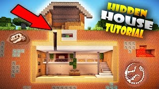 MINECRAFT: EASY SECRET BASE / DOOR Tutorial #4 How to Build a Hidden House