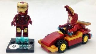 getlinkyoutube.com-sy 아이언맨과 자동차 탈것 레고 슈퍼히어로즈 짝퉁 조립기 lego knockoff iron man