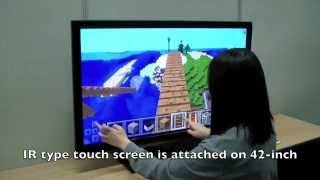 Minecraft on 42-inch Tablet