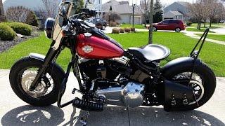 getlinkyoutube.com-Harley Davidson Custom Softail Slim Bobber Style - Walk Around and Review