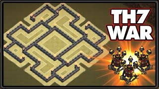 getlinkyoutube.com-NEW UPDATE 2016 | Town Hall 7 War Base With 3 Air Defenses! | TH7 War Base CoC 2016!