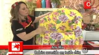 getlinkyoutube.com-ARTE MIX CADEIRA REVESTIDA EM TECIDO CHITA