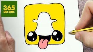Comment dessiner logo snapchat kawaii 201 tape par 201 tape dessins