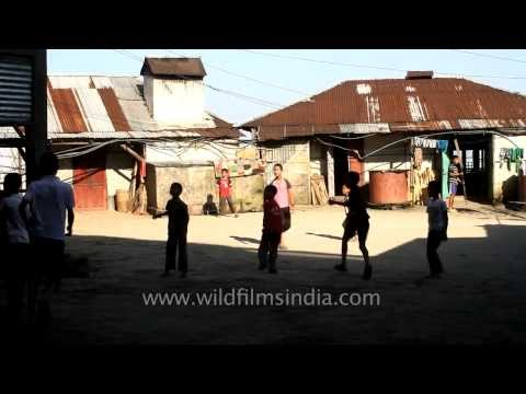 Mizo children playing football