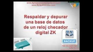 getlinkyoutube.com-COMO RESPALDAR DEPURAR BASE DE DATOS ZK attendance management software