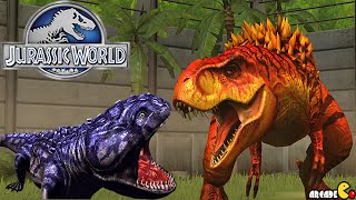getlinkyoutube.com-HYBIRD KOOLASAURUS Vs MAX LEVEL T.REX - Jurassic World The Game!