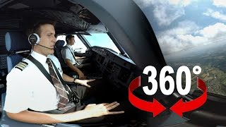getlinkyoutube.com-360° cockpit view | SWISS Airbus A320 | Geneva – Zurich