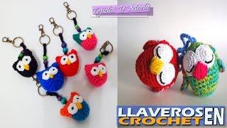 getlinkyoutube.com-Llaveros Hermosos Para Negocio - Tejidos a Crochet