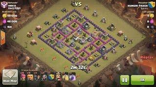 getlinkyoutube.com-Clash of Clans TH8 vs TH8 Giant & Wizard (GiWi) Clan War 3 Star Attack