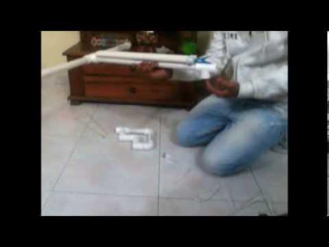 video tutorial como hacer una ballesta casera de pvc paso a paso