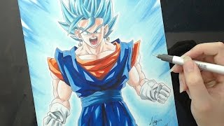 getlinkyoutube.com-Speed Drawing - Vegetto Blue (Dragon Ball Super)