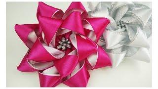 getlinkyoutube.com-DIY Ribbon flower