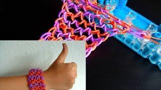 getlinkyoutube.com-Как сделать браслет из резинок. Стиль Чешуя дракона на станке Rainbow Loom