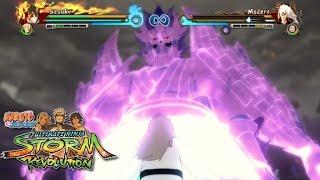Sasuke (Susanoo Perfecto) vs Madara Rikudou MODS [60FPS] - Naruto Storm Revolution