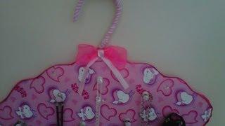 getlinkyoutube.com-♦DIY ♦ Colgador de collares,pañuelos,carteras...etc ♦