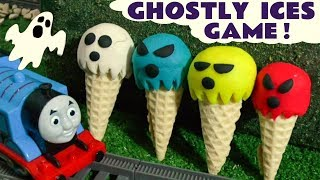 Thomas & Friends Ghost Play Doh Ice Cream Colors Game with Disney Cars Toys McQueen  TT4U